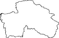 福岡県八女市(やめし)の白地図無料ダウンロード