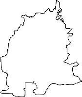 福岡県筑後市(ちくごし)の白地図無料ダウンロード