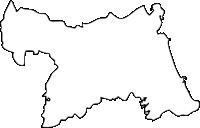 福岡県行橋市(ゆくはしし)の白地図無料ダウンロード
