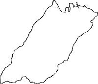 福岡県豊前市(ぶぜんし)の白地図無料ダウンロード