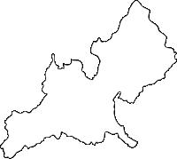福岡県筑紫野市(ちくしのし)の白地図無料ダウンロード