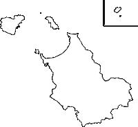 福岡県宗像市(むなかたし)の白地図無料ダウンロード