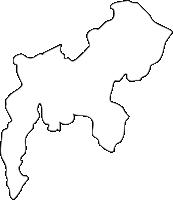 福岡県太宰府市(だざいふし)の白地図無料ダウンロード