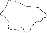 福岡県古賀市(こがし)の白地図無料ダウンロード