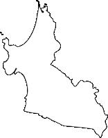 福岡県福津市(ふくつし)の白地図無料ダウンロード