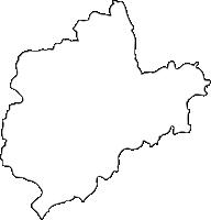 福岡県宮若市(みやわかし)の白地図無料ダウンロード