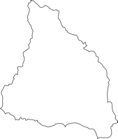 福岡県嘉麻市(かまし)の白地図無料ダウンロード