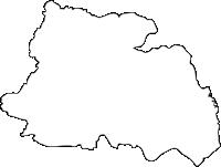 福岡県朝倉市(あさくらし)の白地図無料ダウンロード