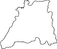 福岡県みやま市(みやまし)の白地図無料ダウンロード