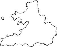 福岡県糸島市(いとしまし)の白地図無料ダウンロード