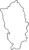 福岡県那珂川町(なかがわまち)の白地図無料ダウンロード