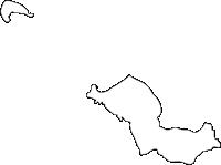 福岡県新宮町(しんぐうまち)の白地図無料ダウンロード