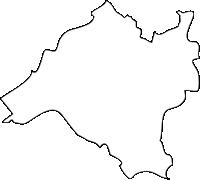 福岡県粕屋町(かすやまち)の白地図無料ダウンロード