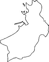福岡県芦屋町(あしやまち)の白地図無料ダウンロード