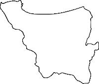 福岡県岡垣町(おかがきまち)の白地図無料ダウンロード