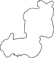 福岡県小竹町(こたけまち)の白地図無料ダウンロード