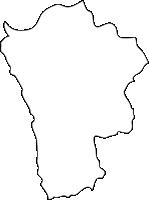 福岡県鞍手町(くらてまち)の白地図無料ダウンロード