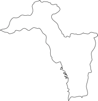 福岡県東峰村(とうほうむら)の白地図無料ダウンロード