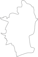 福岡県大木町(おおきまち)の白地図無料ダウンロード