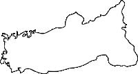 福岡県広川町(ひろかわまち)の白地図無料ダウンロード