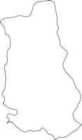 福岡県香春町(かわらまち)の白地図無料ダウンロード