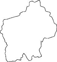福岡県福智町(ふくちまち)の白地図無料ダウンロード