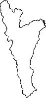 福岡県みやこ町(みやこまち)の白地図無料ダウンロード