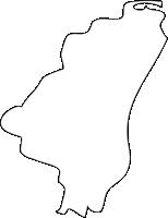 福岡県吉富町(よしとみまち)の白地図無料ダウンロード