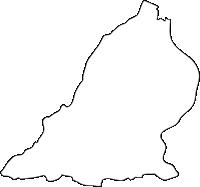 福岡県上毛町(こうげまち)の白地図無料ダウンロード
