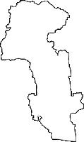 佐賀県佐賀市(さがし)の白地図無料ダウンロード
