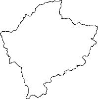 佐賀県武雄市(たけおし)の白地図無料ダウンロード