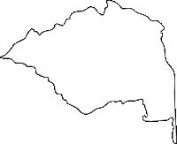 佐賀県基山町(きやまちょう)の白地図無料ダウンロード
