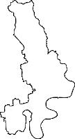 佐賀県みやき町(みやきちょう)の白地図無料ダウンロード
