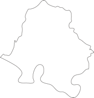 佐賀県大町町(おおまちちょう)の白地図無料ダウンロード