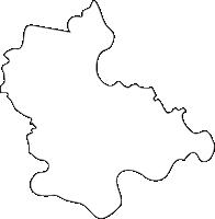 佐賀県江北町(こうほくまち)の白地図無料ダウンロード