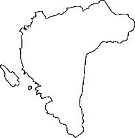 長崎県大村市(おおむらし)の白地図無料ダウンロード