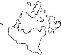 長崎県松浦市(まつうらし)の白地図無料ダウンロード