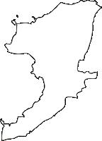 長崎県雲仙市(うんぜんし)の白地図無料ダウンロード