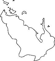 長崎県時津町(とぎつちょう)の白地図無料ダウンロード