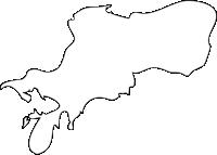 長崎県川棚町(かわたなちょう)の白地図無料ダウンロード
