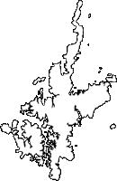 長崎県新上五島町(しんかみごとうちょう)の白地図無料ダウンロード