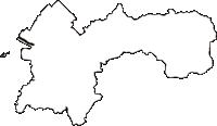 熊本県八代市(やつしろし)の白地図無料ダウンロード