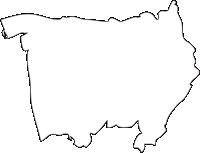 熊本県荒尾市(あらおし)の白地図無料ダウンロード