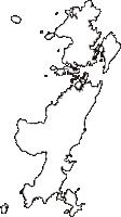 熊本県上天草市(かみあまくさし)の白地図無料ダウンロード