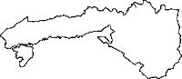 熊本県宇城市(うきし)の白地図無料ダウンロード