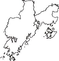 熊本県天草市(あまくさし)の白地図無料ダウンロード