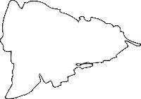 熊本県合志市(こうしし)の白地図無料ダウンロード