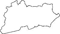熊本県南小国町(みなみおぐにまち)の白地図無料ダウンロード
