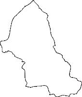 熊本県産山村(うぶやまむら)の白地図無料ダウンロード