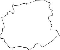 熊本県西原村(にしはらむら)の白地図無料ダウンロード